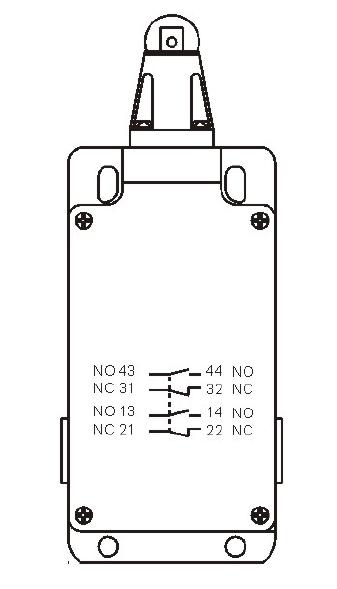 SP1-404 双触点行程开关